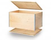 Caisse sans palettisation - Tare : de 0.9 à 2.8 kg ou de 4.5 à 10 kg