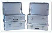 Caisses aluminium - Caisse aluminium avec couvercles-Couvercle avec joint en caoutchouc siliconé.