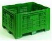 Caisses palette plastique agricole - Fond et parois ajourés