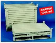 Caisses-palettes acier repliables - Caisses-palettes acier repliables