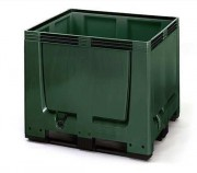 Caisses palettes industrielles 900 Litres - Version: pleine et ajourée -  Capacité: 900 L