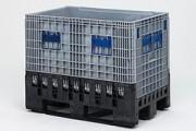 Caisses palettes pliables grands volumes - Pliable, 61230, avec 1 porte, 61231, avec 2 portes, 61232
