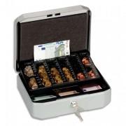Caissette à monnaie en tôle d'acier gris Eurobox - Durable