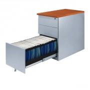 Caisson à hauteur bureau - Caisson métallique hauteur bureau P. 60 ou 80 - 3 tiroirs dont 1 à DS