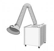 Caisson d'aspiration filtration sur roulettes - Débit : 1500 m³/h - Étages de filtration : pré-filtre métallique - filtre F5 - Filtre HEPA H13