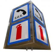 Caisson de signalisation tunnel - 2 faces parralleles ou forme triedre
