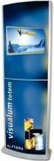 Caisson lumineux cadre aluminium argent satine - VTL414
