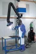 Caisson mobile d'aspiration filtration de fumées - Vitesse d'aspiration : 3500 m³/h