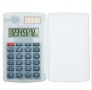 Calculatrice publicitaire en plastique transparent - Dimensions (cm) : 10 x 6 x 0.7