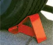 Cale roue de camion en acier - Dimensions : 350x120x205 - Fabrication en acier