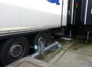 Cale roues de camion manuelle 180 kg - Blocage par électro-aimant - Cale de 180 Kg