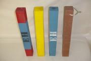 Cales avion en bois - Marquage sur 2 ou 4 côtés en différents coloris