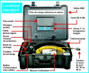 Camera exploration canalisation - Caméra auto éclairante en bout de jonc de 20 à 40 m