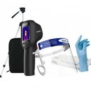 Caméra thermique de détection fièvre à distance - Pack caméra + visière de protection + gants jetables