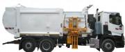 Camion poubelle chargement latéral - Capacité de levage : 454 Kg - Charge utile : 6 à 10,5 T