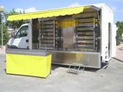Camion rôtisserie de volaille - Véhicule ambulant pour foires et marchés