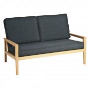 Canapé de jardin en bois - En chêne fsc largeur : 140 cm