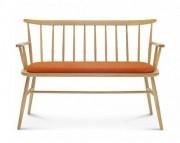 Canapé de jardin modulable en bois - Largeur : 122 cm - Profondeur : 54 cm - Hauteur : 85 cm