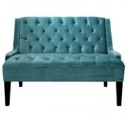 Canapé de style vintage à revêtement en velours - Dimensions : 125,5 x 81 x 90 cm