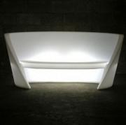 Canapé décoratif lumineux - Largeur  : 170 cm - Profondeur :  84 cm
