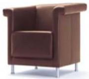 Canapé simili cuir - 1 place structure bois
