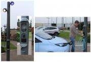 Candélabre de recharge pour véhicule électrique - Le premier candélabre avec point de charge entièrement intégré