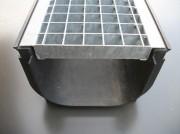 Caniveau caillebotis - Dimensions (L x l x h) : 1000 x 250 x 190 mm