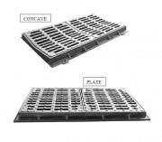 Caniveau en double grille D 400 - Classe : D 400 - Modèle : concaves ou plats