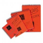 CANSON Album de 120 feuilles de papier dessin CROQUIS XL spirale 90g A4 Ref-787103 - Canson