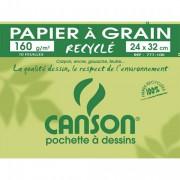 CANSON Pochette de 12 feuilles de papier dessin C A GRAIN 224g 24x32cm Ref-27103 - Canson