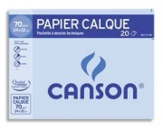 CANSON Pochette de 12 feuilles papier calque satin 90g 24x32 Ref 2772/17170 - Canson