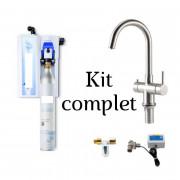 Carbonateur pour eau de robinet - Pression d'eau : 8 bar - Dimensions boîtier : 250 x 172 x 75 mm