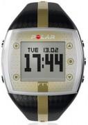 Cardiofréquencemètre noir et or - Double fuseau horaire -  Chronomètre