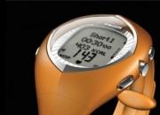 Cardiofréquencemètre orange - Affichage format 12 H/24 H - Chronomètre