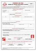 Carnet permis de feu - Dimensions : 21 x 29.7 cm