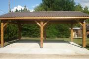 Carport en bois avec couverture tuiles - Toiture de 1 à 4 pans