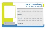 Carte d'adhérent - Format carte de crédit