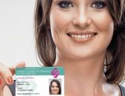 Carte d'identification sécuritaire - Polyester laminé brillant 0.65 mm