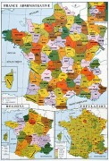 Carte de France physique et administrative