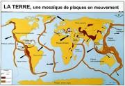 Carte du monde des séismes et tsunamis - Dimensions : H 70 x L 102 cm - Plastification : 42 µm