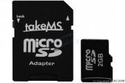 Carte mémoire Micro SD 2GO adaptateur