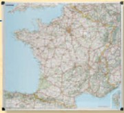 Carte murale routière France Michelin