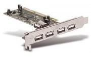 Carte PCI port USB - Carte PCI port USB supplémentaire - 4+1ports USB 2.0