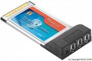 Carte PCMCIA 32Bits - Carte PCMCIA 32Bits  - 3 Ports ieee