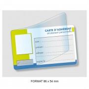 Carte plastique publicitaire à rabat - Impression de cette carte plastique publicitaire en Quadrichromie recto ou recto/verso