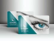 Cartes publicitaires laminées - Matière : Polyester laminé brillant