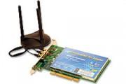 Carte Réseau sans fil - Réseau sans fil WiFi Mimo Pré N - Carte PCI 32bits