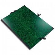 Carton à dessin Annonay avec 3 paires de cordons marbré vert 37x52cm - Exacompta