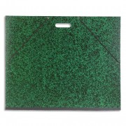 Carton à dessin vert avec poignée et élastique 59 x 72 cm - Exacompta