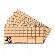 Carton de contrôle course d'orientation - Lot de 50 cartons